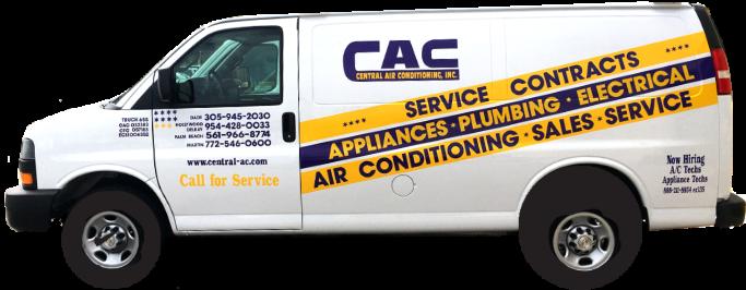 central-ac.com service van